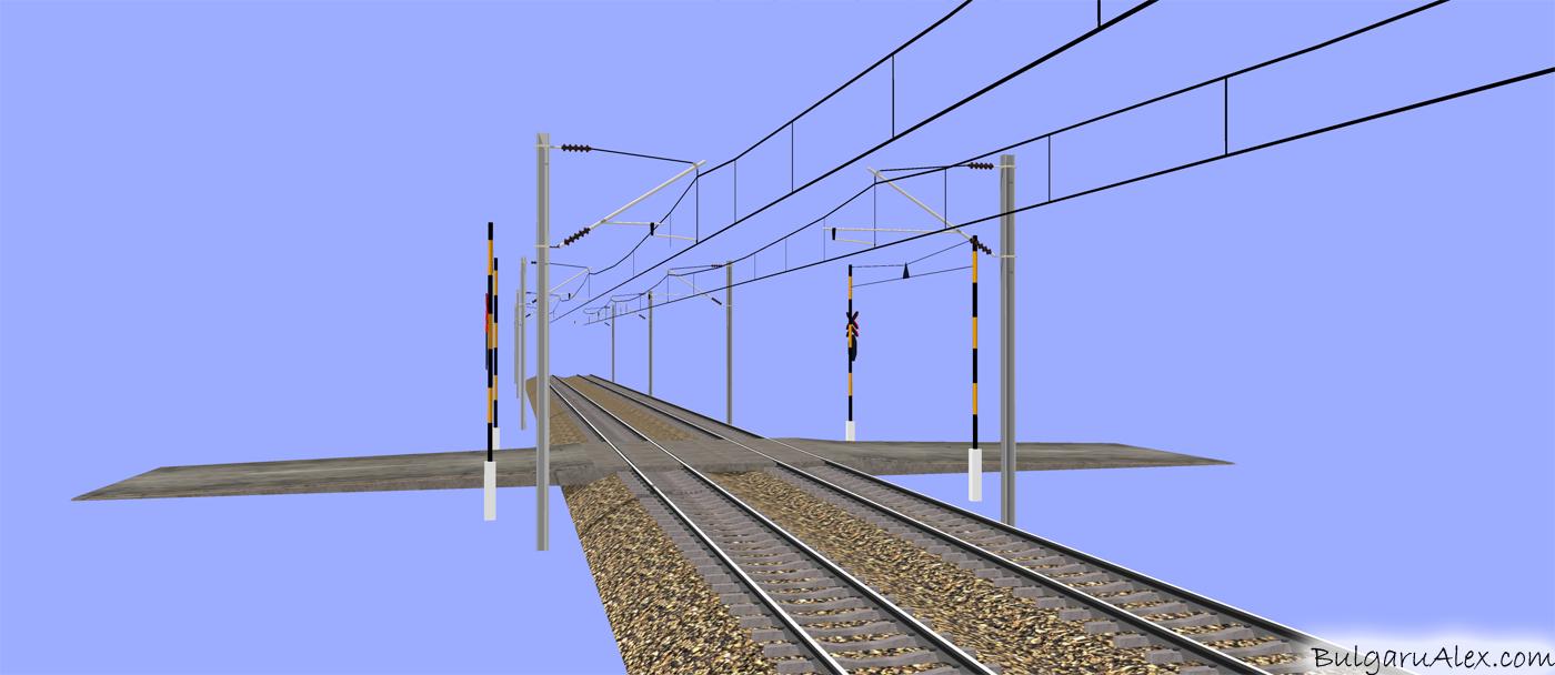 3d electrified railway 3