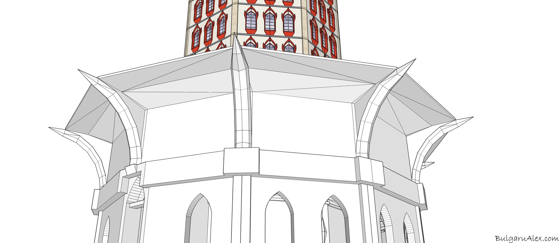 Animation castle scene architecture 2