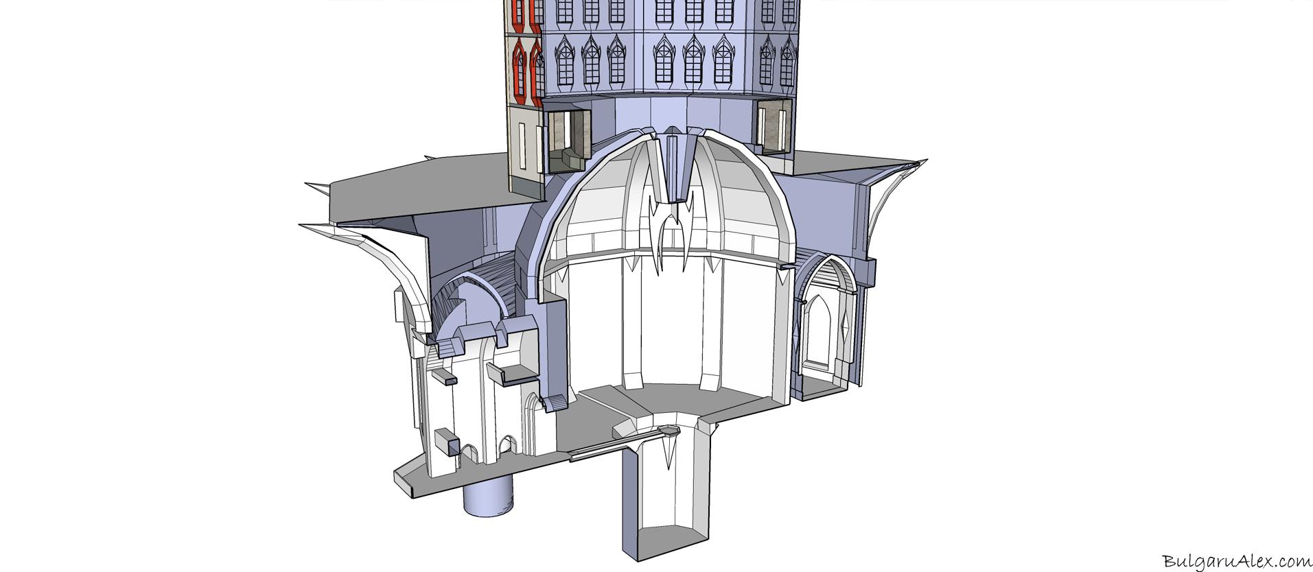 Animation castle scene architecture 3