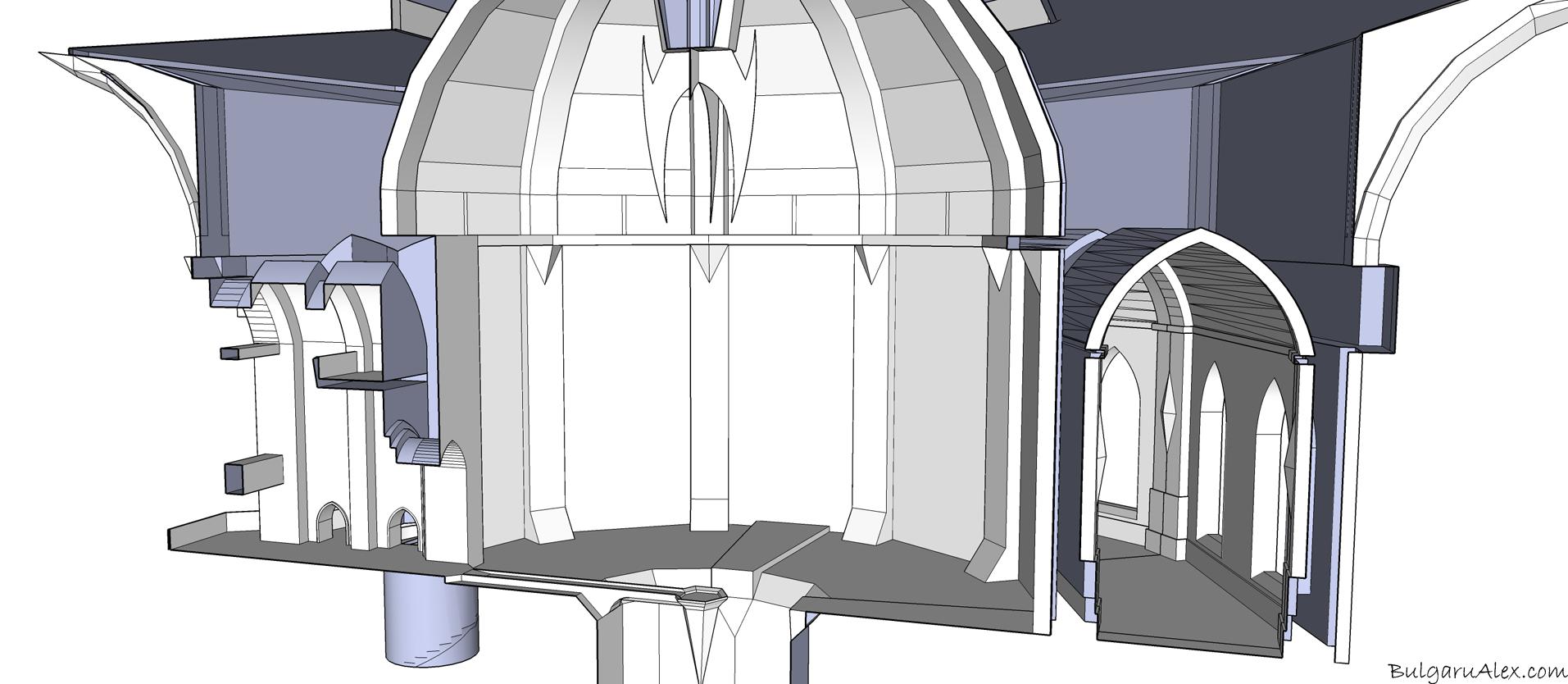 Animation castle scene architecture 4