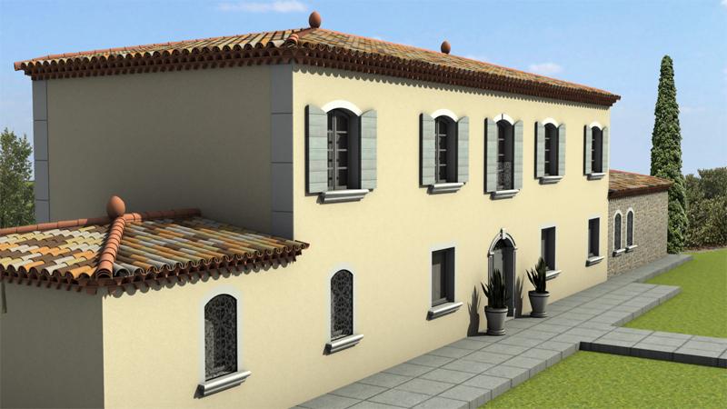 Architecture 3d bastide bulding 4
