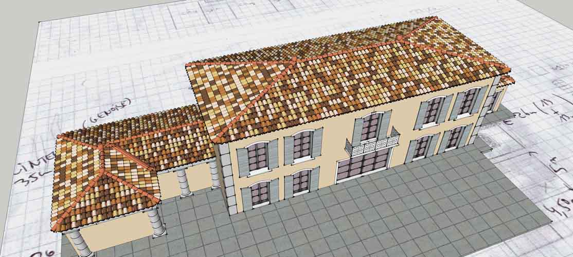 Sketchup bastide 3d house